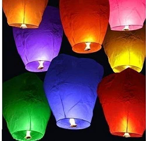 Vijayalakshmi Diwali Special Sky Paper Lanterns  Set of 5 Pieces .