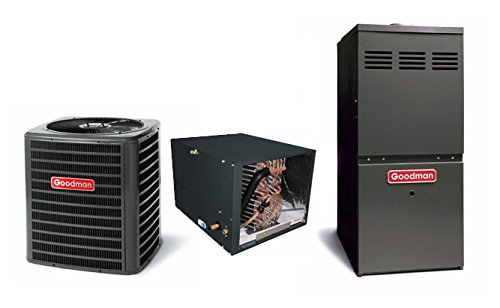 Goodmans 3 Ton 13 SEER R-410a AC with Upflow 96% AFUE 80,...