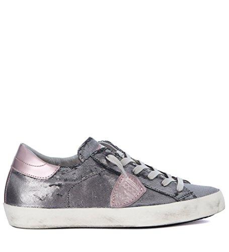 pelle Philippe Grigio Paris argento Sneaker rosa in Model e BIyUwpH