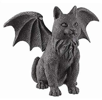 (Winged Cat Gargoyle Statue Figurine Myth)