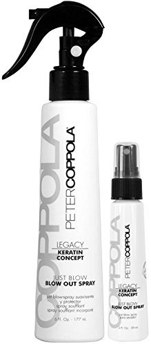 PETER COPPOLA Blow Out Spray Travel Size Duo ( 6 oz with 2 oz ) - Perfect Blowouts - Long Lasting Hair Spray - Heat Protector Spray - Smooth Frizz Hair - Travel Size by PETER COPPOLA