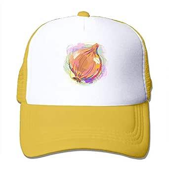 Funny Hat Baseball Cap Mesh Baseball Caps Onion Art Painting ...