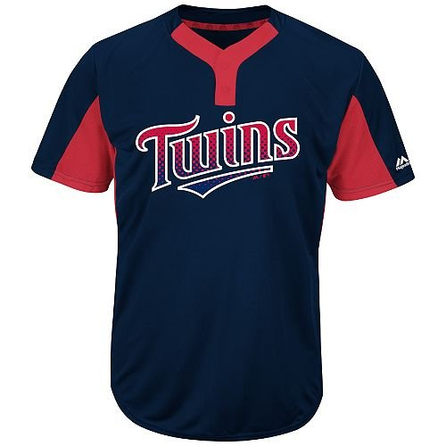 Blank Back Adult XL Minnesota Twins 2-Button Placket Cool-Base MLB Licensed Jersey