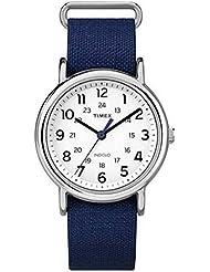 Timex Weekender White Dial SS Blue Nylon Multi Quartz Womans Watch TW2P65800