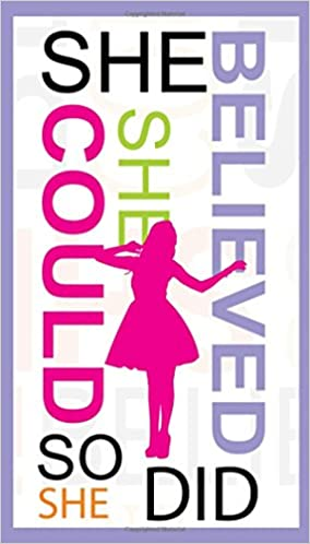 She Believed She Could So She Did 4 X 7 Inch 2 Year Pocket Planner