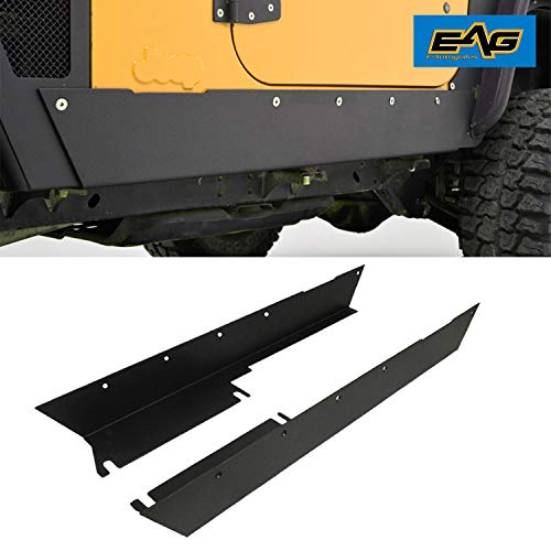 (EAG Armor Rocker Panel Guard Rock Sliders Fit for 97-06 Jeep Wrangler TJ)