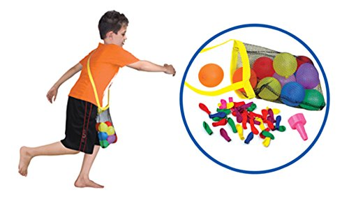 [24 Pack] Refill Kits of Latex Water Balloons Bomb - Summer Water Balloon Fight, Party Favors, Sports Fun for Kids & Adults - Multicolored with Nozzle & Carry Bag (1200 Count) by Liberty Imports (Image #2)