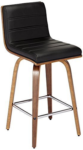"Vienna 25 1/4"" Black and Walnut Counter Stool"