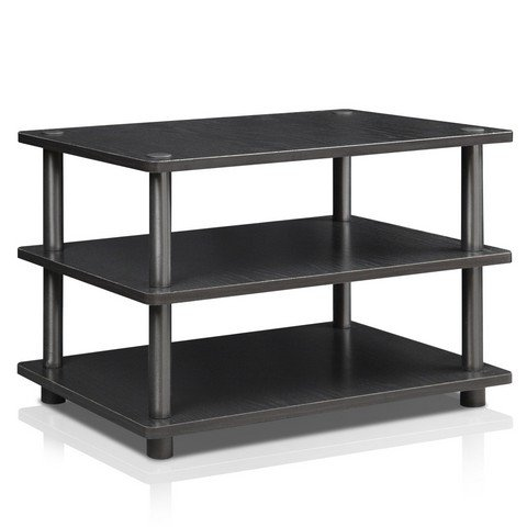 Furinno 15094BW/BK Turn-N-Tube Corner Tv Stand, Blackwood