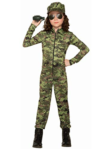 Army Girl with Hat Costume for