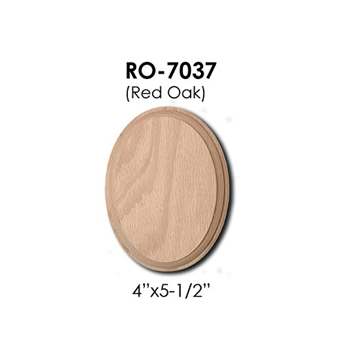7037 Oval Rosette Wooden Red Oak Wood Handrail Installation Hardware Wallplate