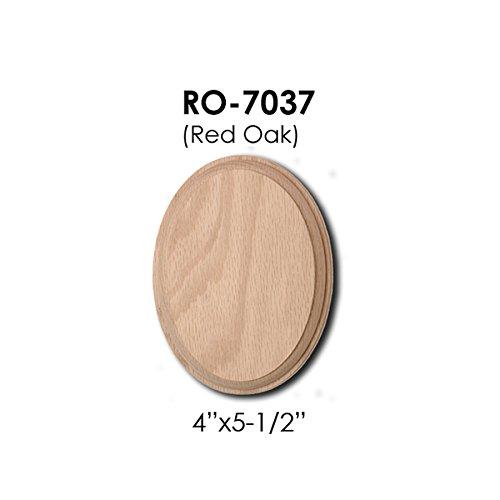 Oak Rail - 7037 Oval Rosette Wooden Red Oak Wood Handrail Installation Hardware Wallplate