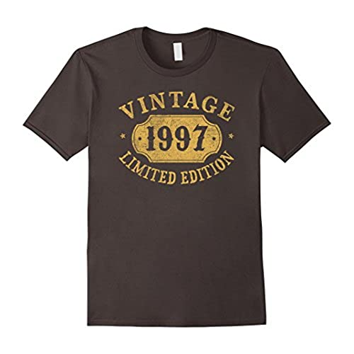 Mens 1997 21 Years Old 21st B Day Limited Birthday Gift T Shirt Large Asphalt