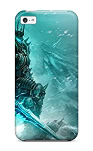 New Style Case Cover World Of Warcraft Wrath Of The Lich King Compatible With Iphone 5c Protection Case
