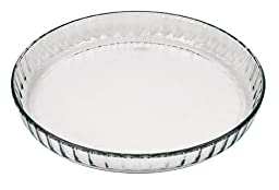 Marinex Glass Fluted Flan or Quiche Dish, 10-1/2-Inch
