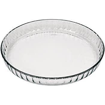 Amazon Com Marinex Glass Fluted Flan Or Quiche Dish 10 1