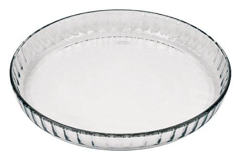 Flan Quiche - Marinex Glass Fluted Flan or Quiche Dish, 10-1/2-Inch