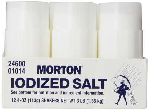 Morton Iodized Salt Shakers, 3 Pound (Iodized Table Salt compare prices)