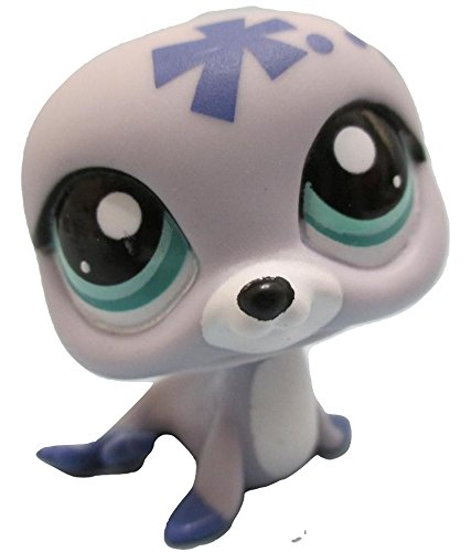Littlest Pet Shop Lavender Purple Periwinkle Blue Seal with Aqua Green Eyes #1842 Replacement Part LOOSE//Packaged in Parts Bag LPS
