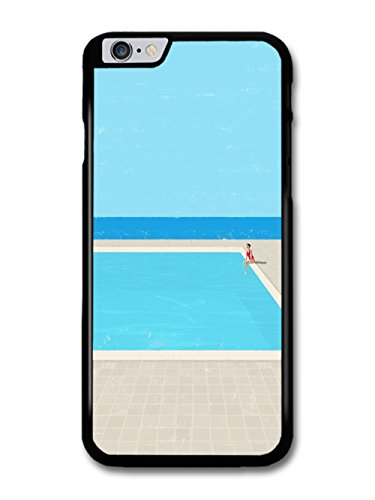 Summer Sun Pool With Woman in Bathing Suit in Minimalist Style case for iPhone 6 Plus 6S Plus
