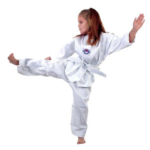 - Macho Lightweight 7 oz Taekwondo Student V-Neck Uniform - Size 1