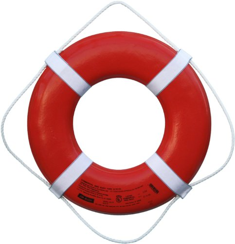 Cal June USCG Approved Ring Buoy (24- Inch Diameter, Orange)