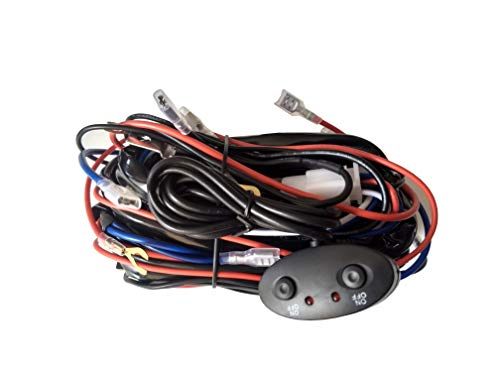 Jupiter LED Lighting 4 Lead LED Heavy Duty Wiring Harness with Fuse 12V 40A Relay and Double On Off Rocker Switches ()
