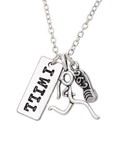 cooltime Love to Run 5K-10K-13.1M-26.2M Trail Running King of Race Necklace for Marathon Runners (girl-26.2)