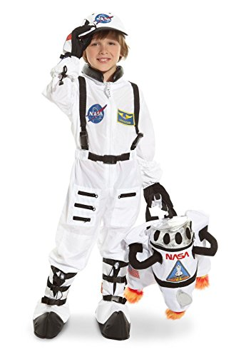 Jr. Astronaut Suit White Child Costume - Small (4-6) - Kid's Costumes