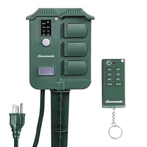 Outdoor Timers Power Stake With Photocell Light Sensor And