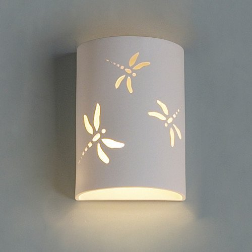 """9"""" Dragonfly Themed Cylinder Sconce"""