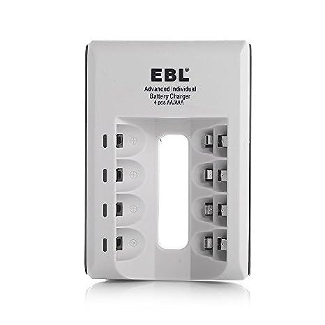 807 Cargador EBL LED R?pido 4 individual bater?a inteligente ...