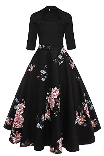 Axoe Damen 50er 60er Jahre Abendkleid Vintage Rockabilly Kleid ...