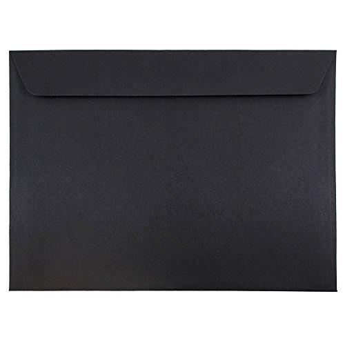 """UPC 609722707732, JAM Paper 9 1/2"""" x 12 5/8"""" Booklet Envelope - Black Linen - 25/pack"""