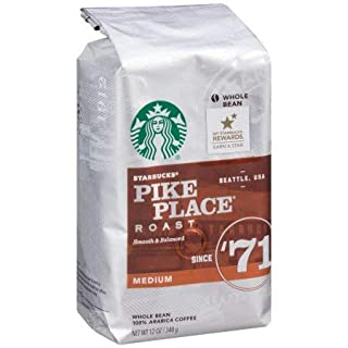 Starbucks Pike Place Roast Medium Roast Whole Bean Coffee (Pack of 4)