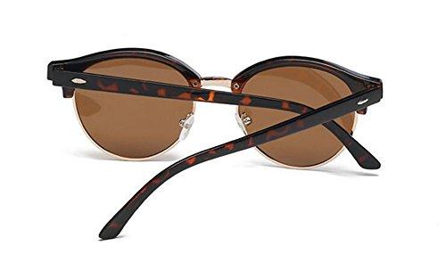 soleil B Tranche en lunettes Thé retro vintage rond cercle Lennon du polarisées inspirées de de métallique style OFxFqSw5a