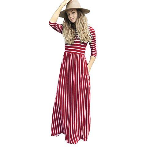 Aiskly Des Femmes Des Robes Manches Imprimé Bande Longue Robe Lyq-1404