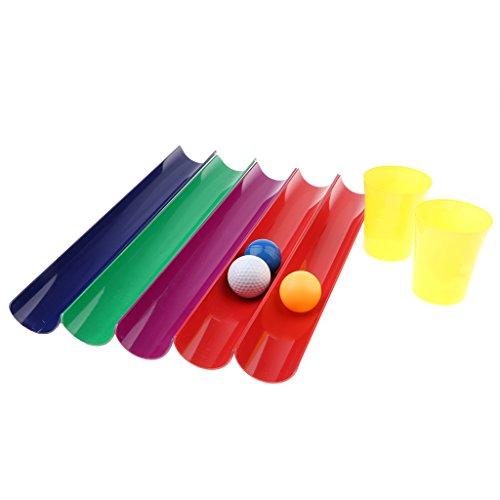 Fenteer ランダム 屋外おもちゃ ボール パイプ リレーレースゲーム バランストレーニングゲーム 6サイズ選ぶ - 5.5 x 40 cm