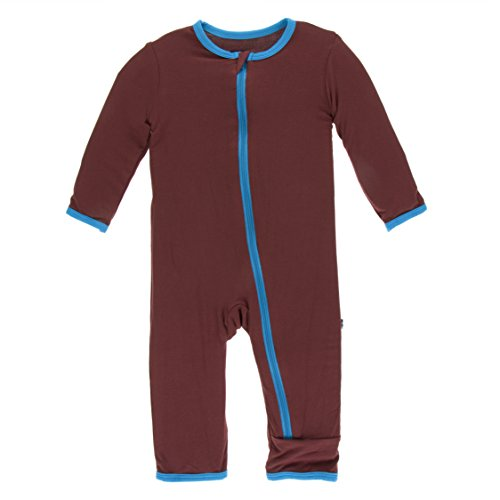 Kickee Pants Little Boys Solid Coverall with Zipper - Eagle with Amazon, 9-12 Months