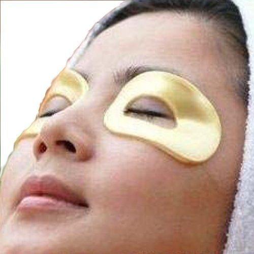 10 Masques à 5 paires de 24k yeux Collagène Acide Hyaluronique, vitamine B5, vitamine E, réduire les rides et les cernes autour de la zone des yeux