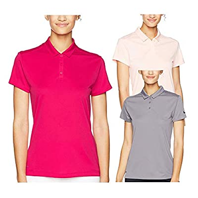 NIKE Dri Fit 3 Button Placket Shortsleeve Textured Golf Polo 2018 Women
