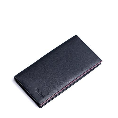 Caso Cuero Capacidad Bloqueo Business Carteras de tarjeta la Plegable A Extra 7x4inch 19x10cm Elegante Rfid Carteras Ventana A 1dwq01