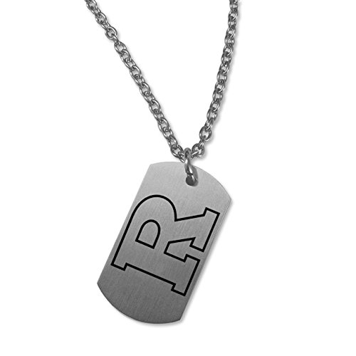 (College Jewelry Rutgers Scarlet Knights Satin Finish Stainless Steel Dog Tag Necklace (22in Chain))