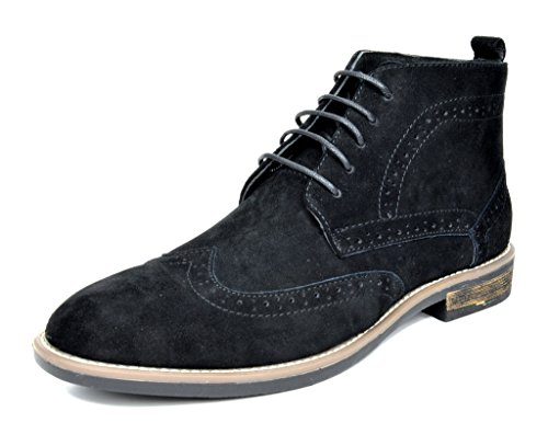Desert Leather Footwear - Bruno Marc Men's URBAN-02 Black Suede Leather Lace Up Oxfords Desert Boots Size 10 M US
