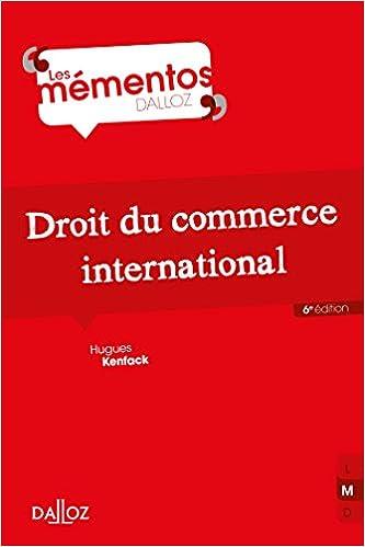 Book's Cover of Droit du commerce international - 6e éd. (Français) Broché – 13 septembre 2017