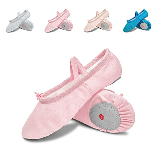 L-RUN Girls'/Women's Canvas Ballet Dance Shoes/Ballet Shipper/Yoga Shoe