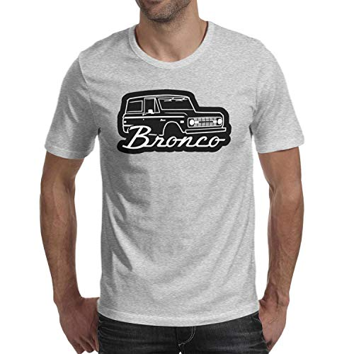 SMHNG 1966-1977-F-ord-Bronco- Printed Men's Mens T Shirt Casual Breathable 100% Cotton Tees -