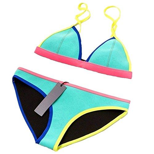 CIKINI Womens Neoprene Triangle Bathing