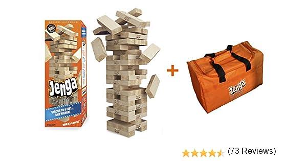 Jenga Giant - Juego de Madera Dura y Bolsa de Transporte (apilable a más de 4 pies): Amazon.es: Juguetes y juegos