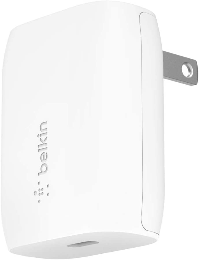 Belkin USB-C Wall Charger 20W with USB C to Lightning Cable (iPhone Fast Charger for iPhone 12 Pro Max/12/12 Pro/ 12 Mini, iPhone 11, 11 Pro, 11 Pro Max, XS, XS Max, XR, X iPad Pro and More